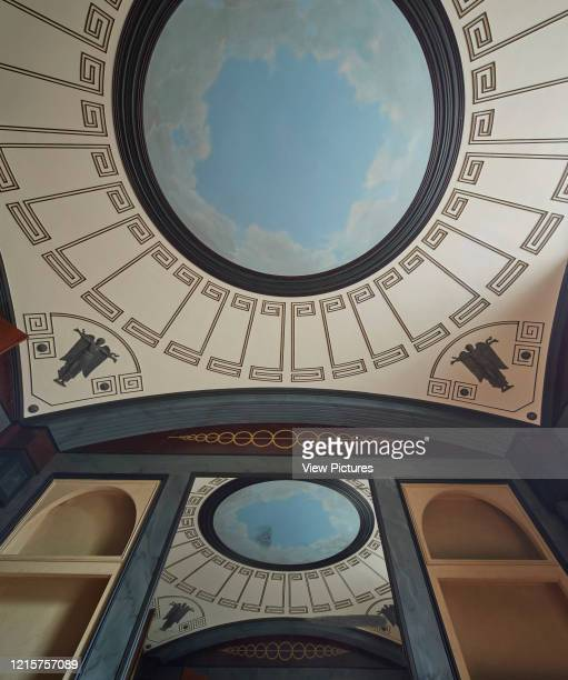 Detail in breakfast room with curved ceiling and arches Pitzhanger Manor London United Kingdom Architect Julian Harrap Architects 2019