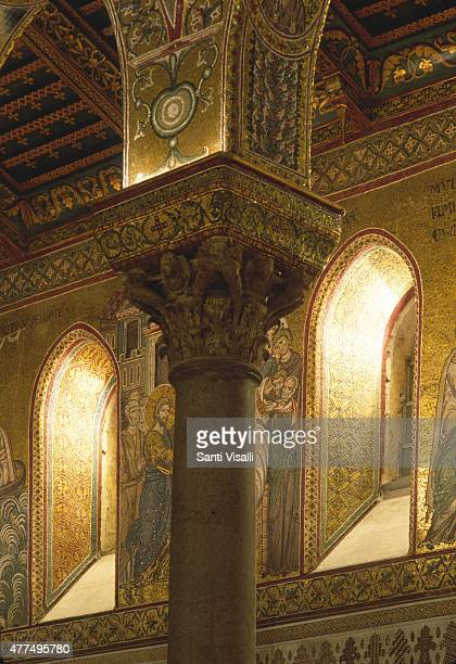 Detail Monreale Cathedral on July 21 1996 in Palermo Sicily