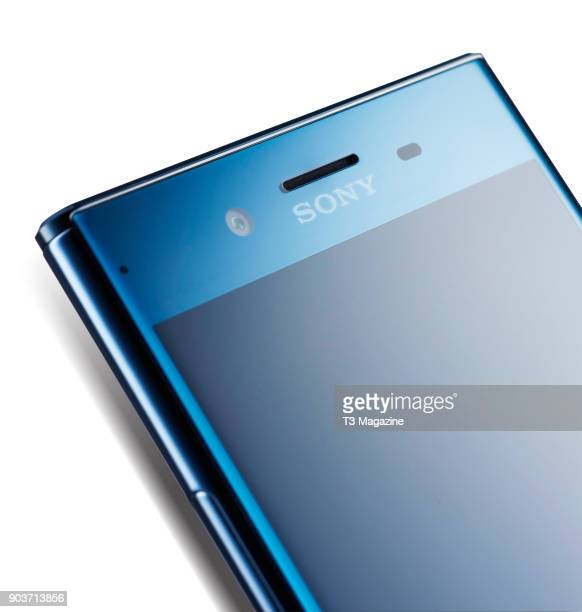 Detail of a 2017 Sony Xperia XZ Premium smartphone taken on June 7 2017