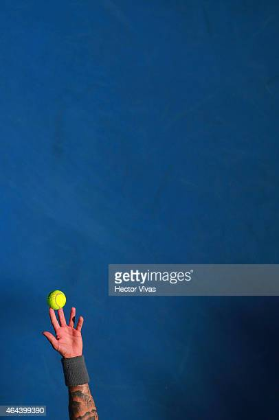 Detail of a ball in the hand of Andreas HaiderMaurer during a match against Alexandr Dolgopolov of Ukraine during a men single match as part of...