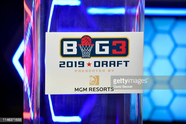 A detail of a BIG3 Draft sign during the BIG3 Draft at the Luxor Hotel Casino on May 01 2019 in Las Vegas Nevada