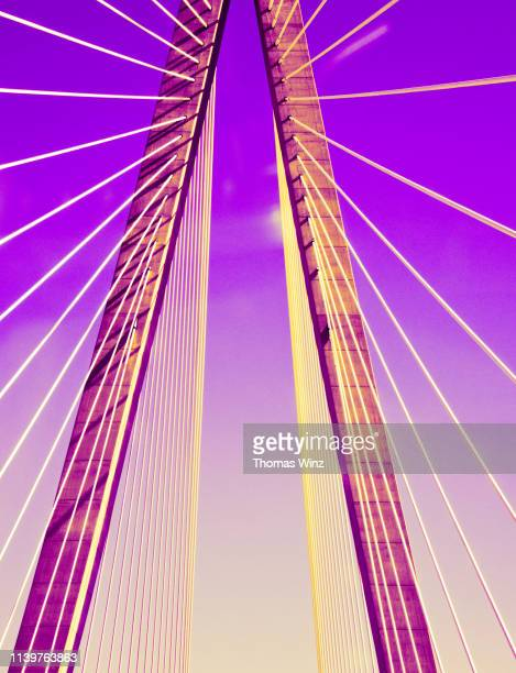 detail of a bridge tower - man made structure stock pictures, royalty-free photos & images