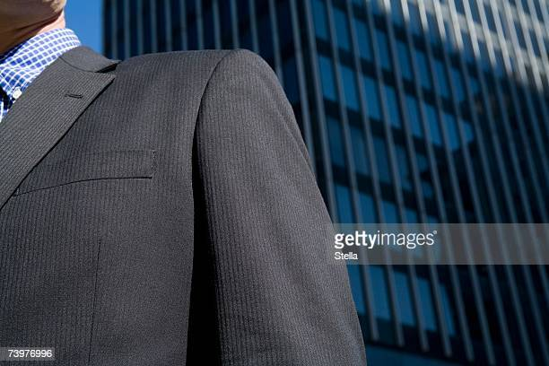 Detail of a businessman in the financial district
