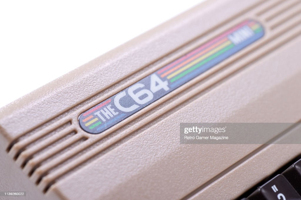 Detail of a C64 Mini games console, taken on April 17, 2018
