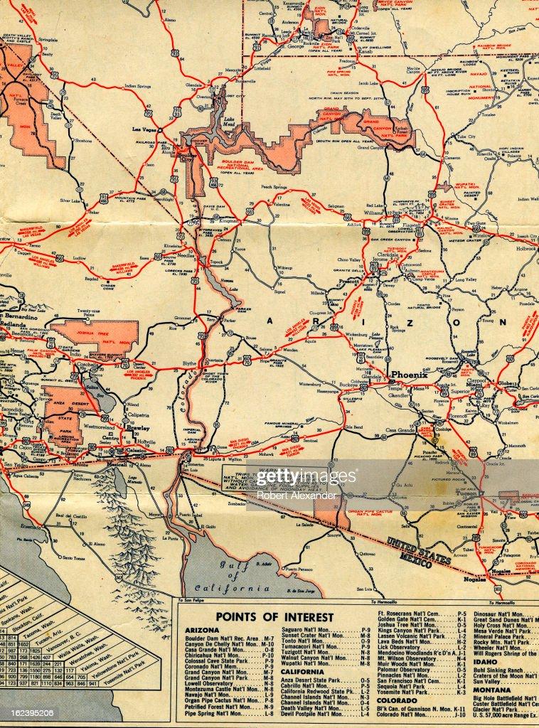Detail of a circa 1950 Mobilgas folding roadmap of ...
