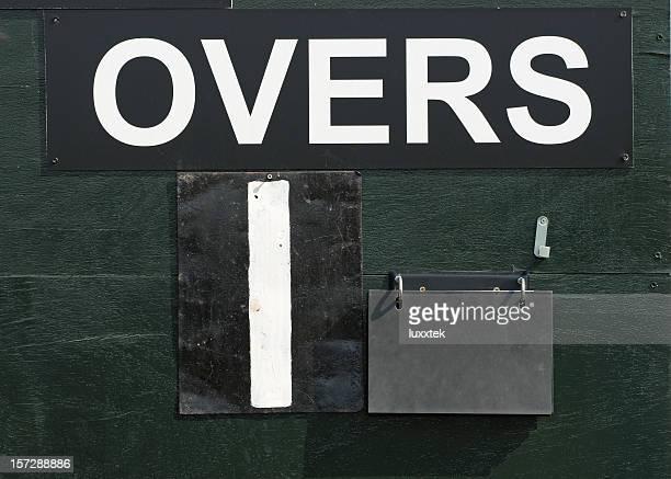 Detail of a cricket score board