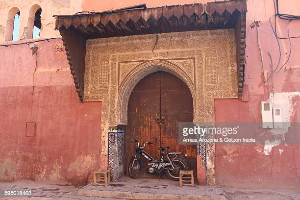Detail of a door in Marrakech