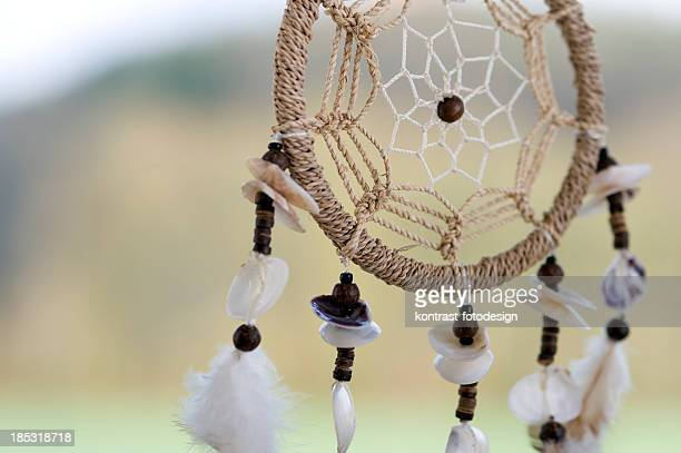 Detail of a dreamcatcher .