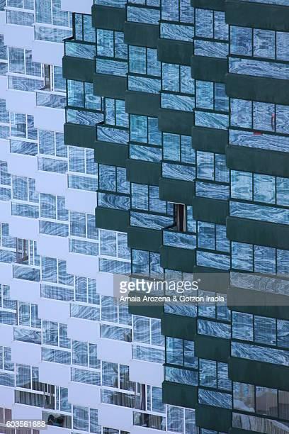 Detail of a facade in Benidorm, Spain