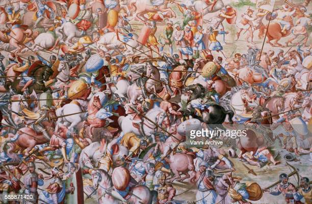 Detail of a Fresco Painting of the Battle of Higueruela at El Escorial