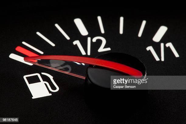 Detail of a fuel gauge