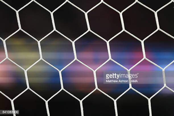 Detail of a goal net during the UEFA EURO 2016 Group F match between Portugal and Austria at Parc des Princes on June 18 2016 in Paris France