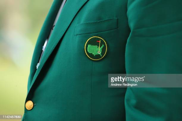Detail of a green jacket during the third round of the Masters at Augusta National Golf Club on April 13, 2019 in Augusta, Georgia.