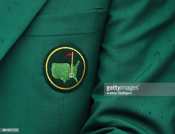 A detail of a green jacket is seen during the Par 3 Contest prior to the start of the 2017 Masters Tournament at Augusta National Golf Club on April...