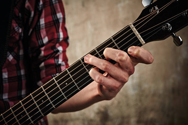 Guitar Chord Demo Shoot Pictures | Getty Images