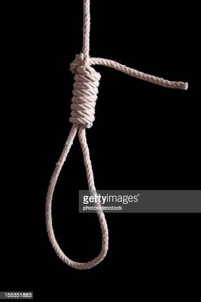 Detalle de una cuerda para colgar en forma de nudo