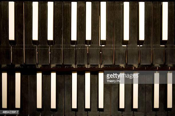 Detail of a harpsichord keyboard