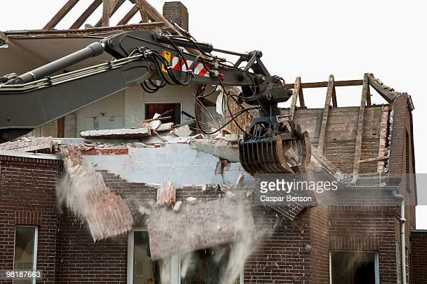 Detail of a house being demolished