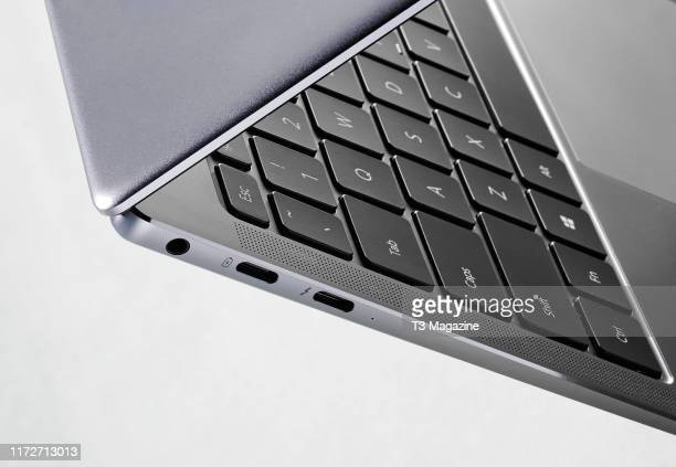 Detail of a Huawei MateBook X Pro laptop computer taken on March 20 2019