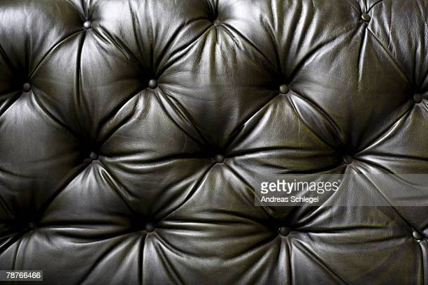 Detail of a leather sofa