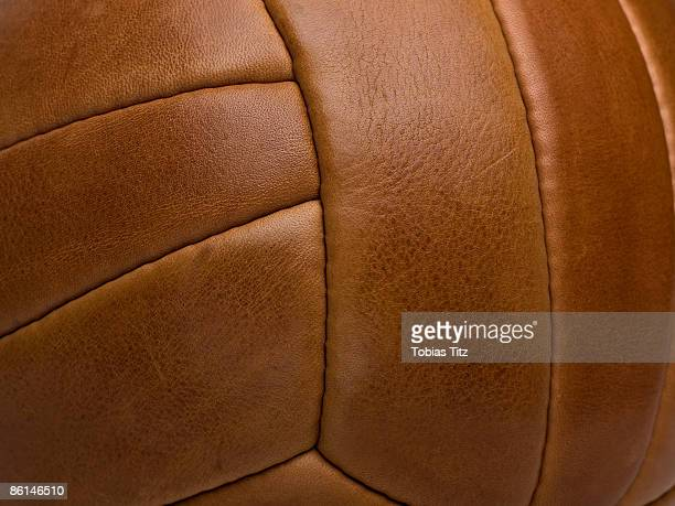 Detail of a leather sports ball