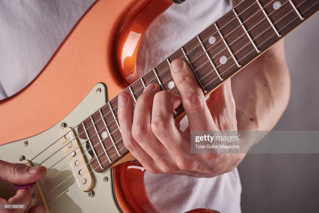 Rhythm Guitar Technique Shoot : News Photo