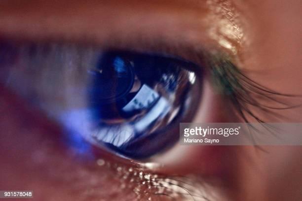 Detail of a man's eye