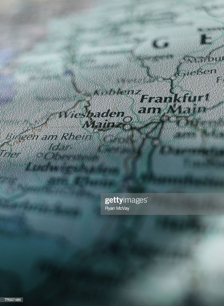 Detail of a Map of Germany : Stock-Foto