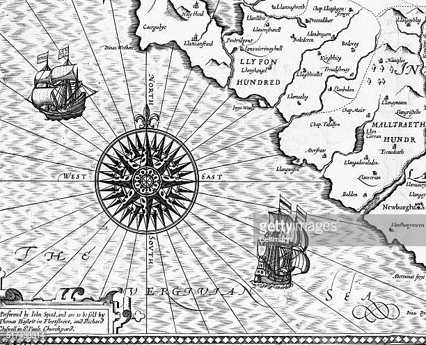 A detail of a map showing Wales and the Vergivian Sea published in The Theatre of the Empire of Great Britain The Vergivian Sea was the name given by...