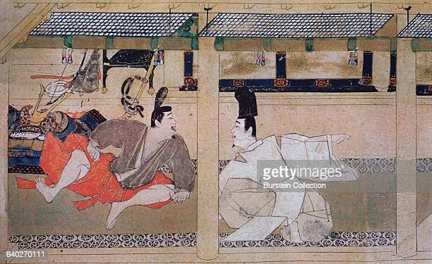 Detail of a Meeting Between a Samurai and a Nobleman from Heiji Monagatari Emaki