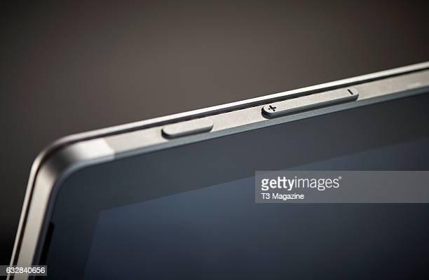 Detail of a Microsoft Surface Pro laptop computer taken on June 10 2016