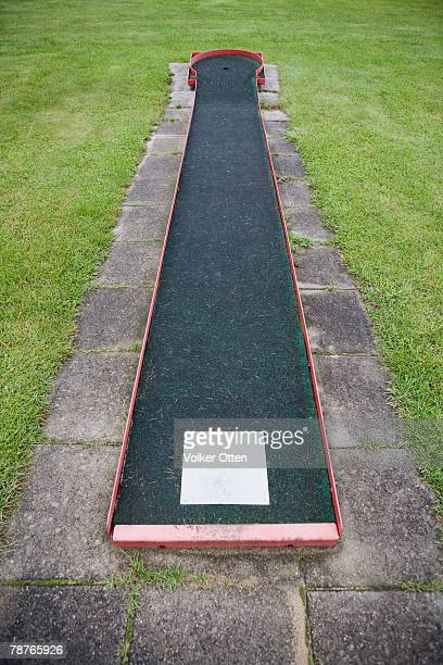 detail of a miniature golf course - miniature golf stock photos and pictures