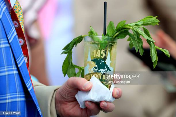 Detail of a Mint Julep prior to the 145th running of the Kentucky Derby at Churchill Downs on May 04, 2019 in Louisville, Kentucky.