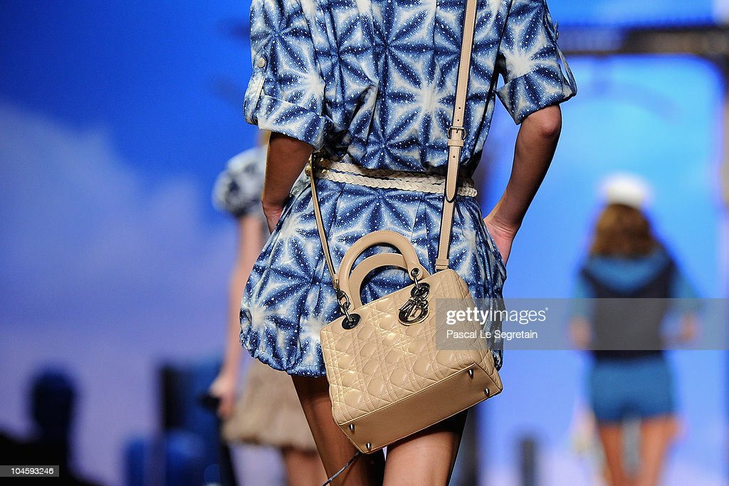 A detail of a model as she walks the runway during the Christian Dior Ready to Wear Spring/Summer 2011 show during Paris Fashion Week at Espace Ephemere Tuileries on October 1, 2010 in Paris, France.