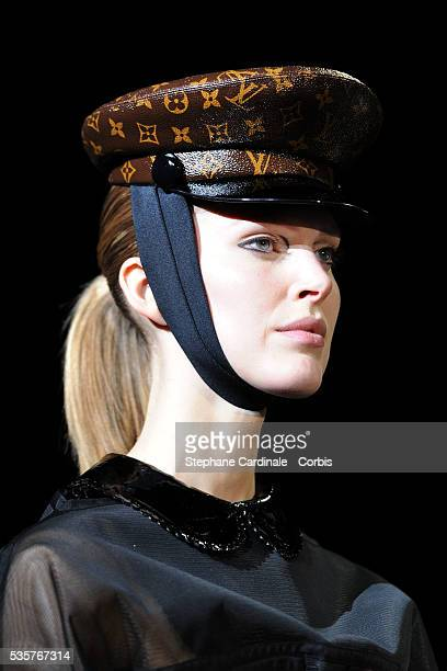 A detail of a model as she walks the runway during the Louis Vuitton Ready to Wear Autumn/Winter 2011/2012 show at Paris Fashion Week in Paris