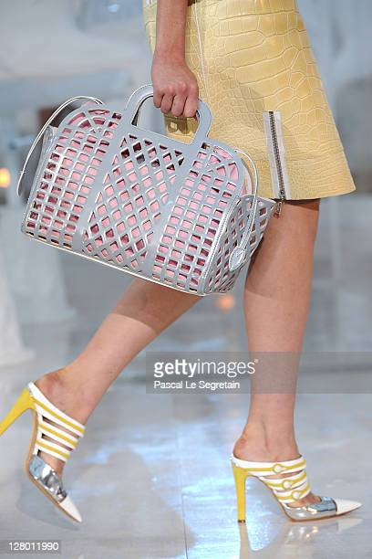 A detail of a model is seen as she walks the runway during the Louis Vuitton Ready to Wear Spring / Summer 2012 show during Paris Fashion Week on...