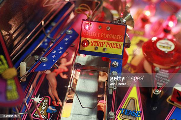 A detail of a pinball machine is seen during The Florida Arcade Pinball Expo at the Dania JaiAlai Sports Entertainment Complex on February 10 2011 in...
