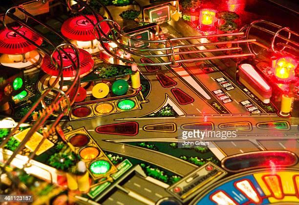 Detail of a pinball machine