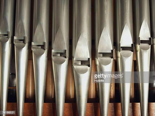 Detail of a pipe organ