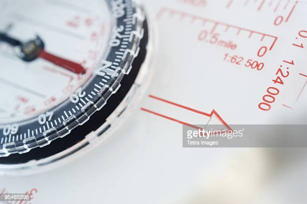 Detail of a plastic compass