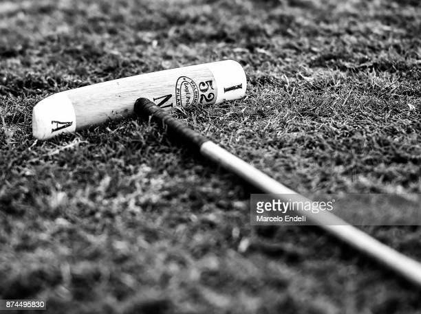 Detail of a polo mallet during a match between La Dolfina and La Albertina as part of the HSBC 124°° Argentina Polo Open at Campo Argentino de Polo...