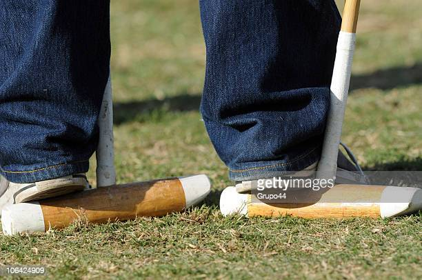 Detail of a polo stick during a match of the 117th Hurlingham Open between La Dolfina and La Aguada at the Hurlingham Country Club on October 31 2010...