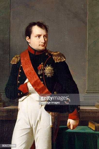 Detail of a portrait of Napoleon Bonaparte, 1812. From the collection of Apsley House, London. Artist: Robert Lefevre.