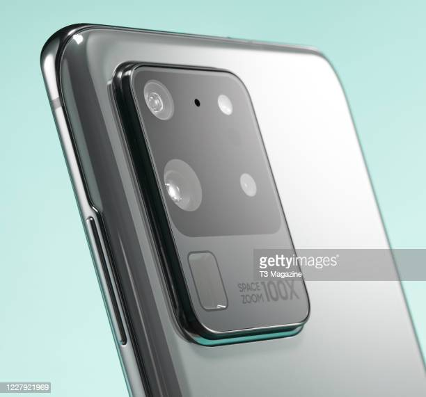 Detail of a Samsung Galaxy S20 Ultra smartphone taken on February 14 2020