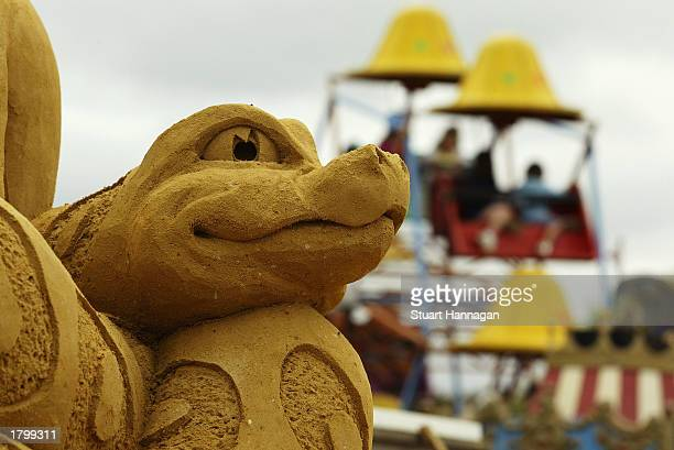 A detail of a sand sculpture at the Australian Sand Sculpting Championships February 16 2003 in Rye Victoria Australia Ten sand sculptures some up to...