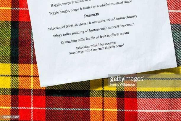 Detail of a Scottish Menu