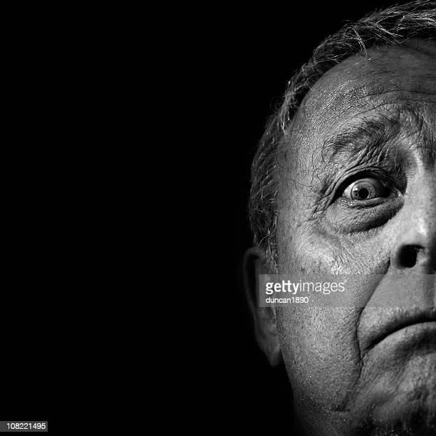 Detail of a Senior man