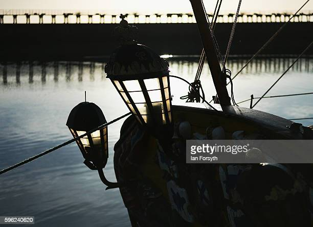 Detail of a ship's light positioned on the stern during the North Sea Tall Ships Regatta on August 27 2016 in Blyth England The bustling port town in...