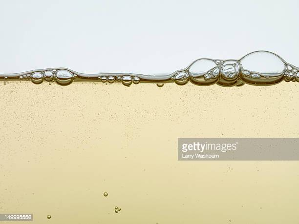 Detail of a sparkling drink in a glass