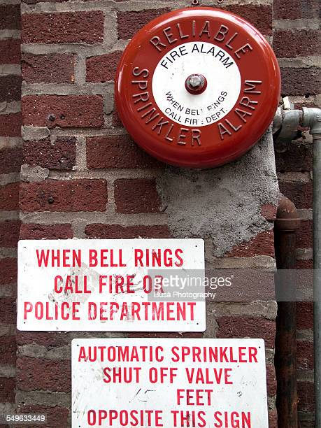 Detail of a sprinkler alarm